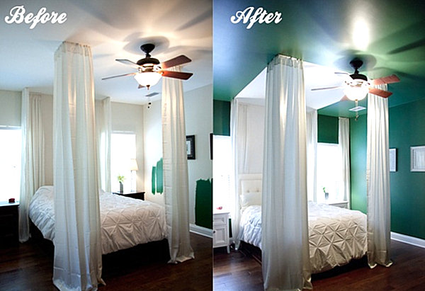 Emerald bedroom makeover