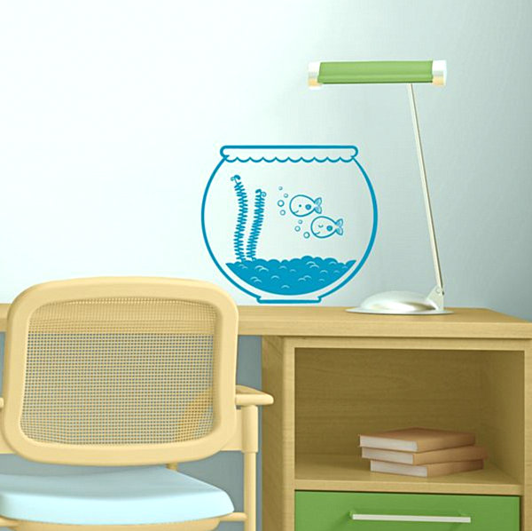 Fishbowl wall decal