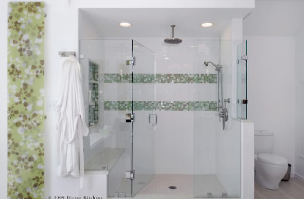 tile showers with glass doors.  glass doors View in gallery Frameless Range Shower looks transparently stunning with a glassy look 25 Glass Doors for Truly Modern Bath