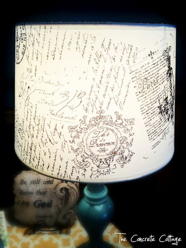 View In Gallery DIY French Script Lampshade