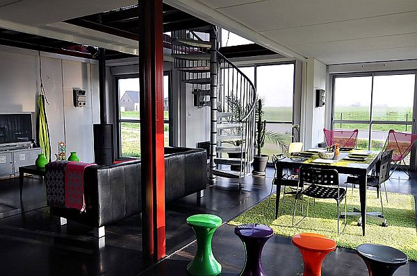 Furniture in bold and bright shades adds a touch of vibrance