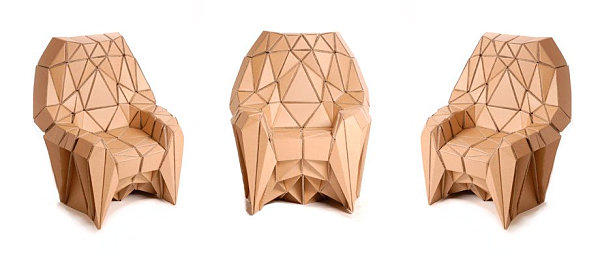 Geometric cardboard seating