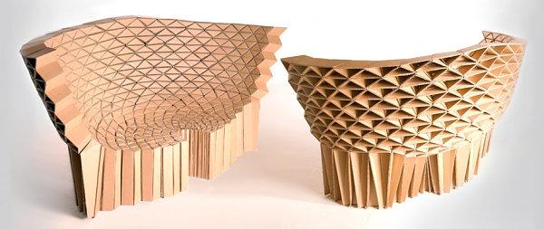 Geometric cardboard sofa