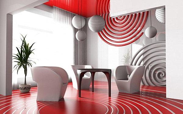 Geomteric living room
