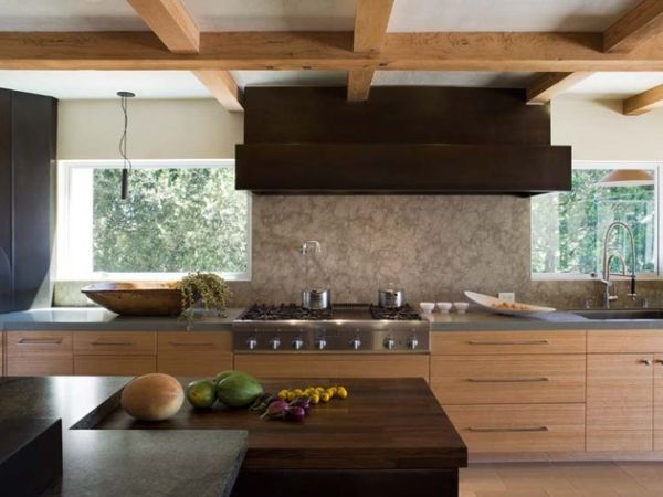 ... Japanese Country Kitchen With A Beautiful Balance Of Dark And Light  Wooden Tones