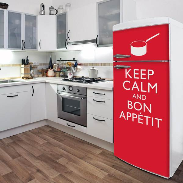Keep Calm refrigerator door decal