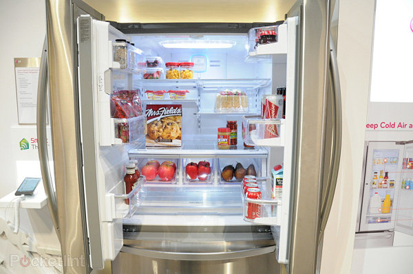 LG smart fridge, featured at CES 2013