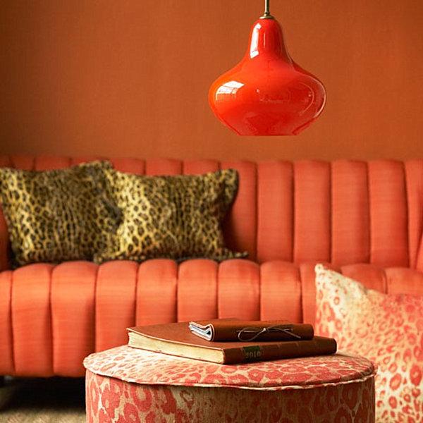 Leopard print living room