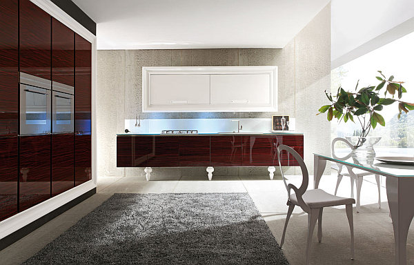 Luxury art deco kitchen interior design