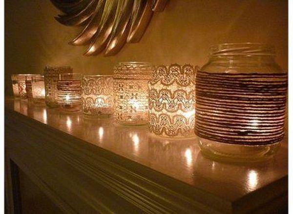 Crafty mason jar candles