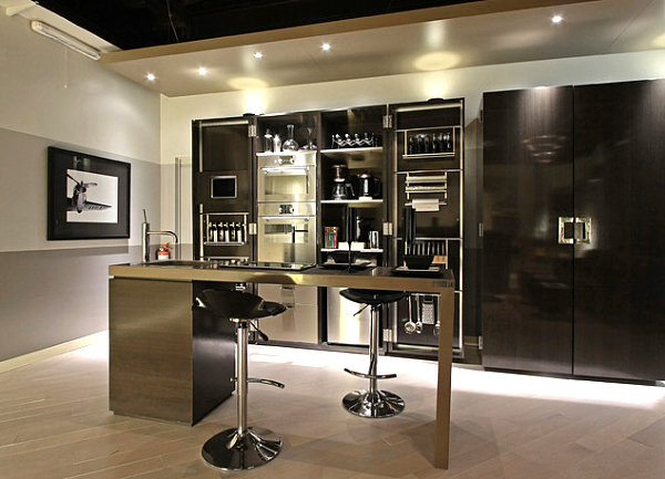 12 unforgettable kitchen bar designs for Kitchen with mini bar design