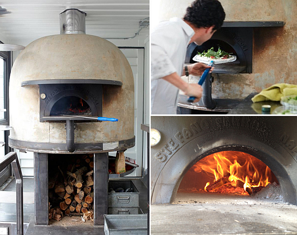 Mobile Pizzeria crafted from a repuposed shipping container