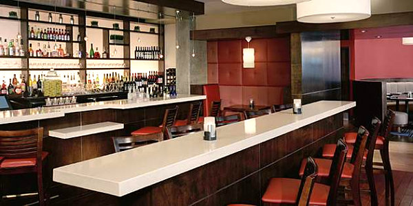 View in gallery Modern bar with durable countertops