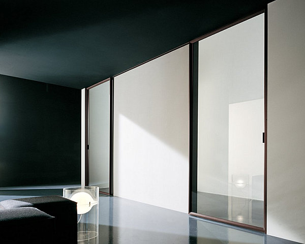 Modern glass sliding door