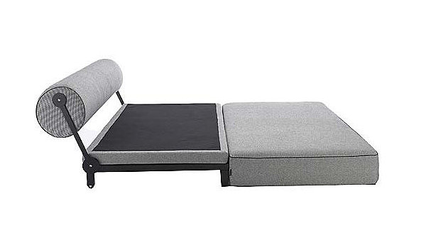 Modern sofa converts to a bed