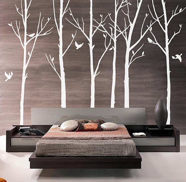 Modern tree wall decals