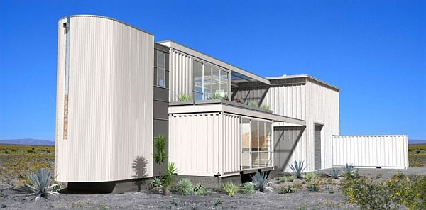 Mojave Desert Shipping Container House- A look from distance
