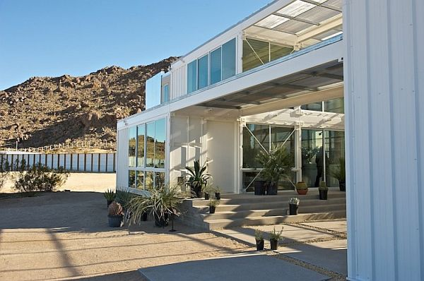 Mojave Desert Shipping Container House- Lavish design that replicate a traditional home