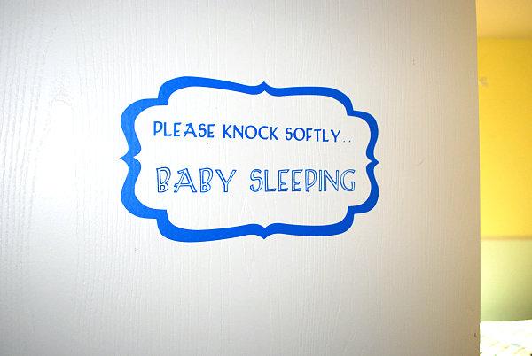 Nursery door decal