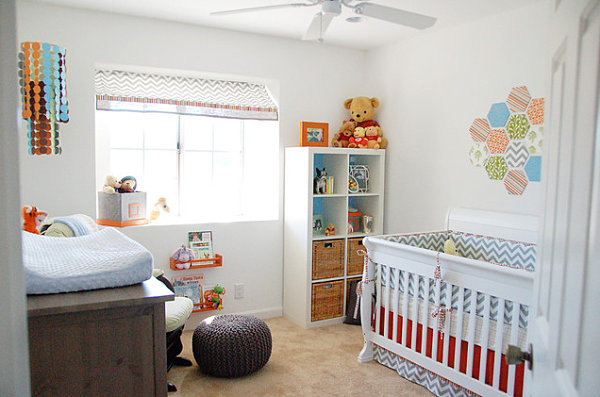 Nursery with a Winnie the Pooh theme