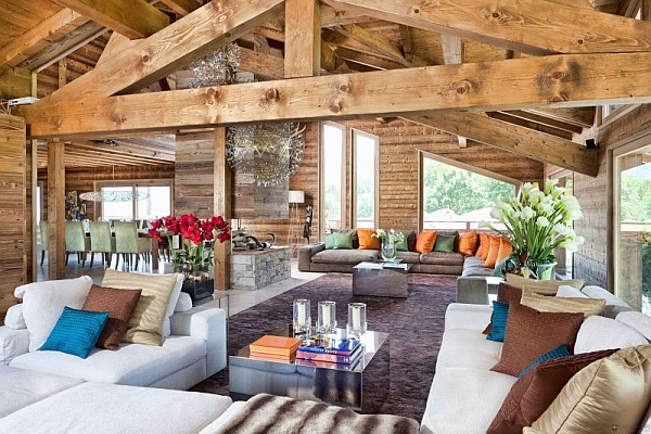 One Oak Chalet living room