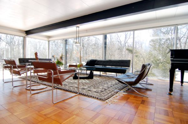 Open living space design with cool incorporation of Wassily chairs