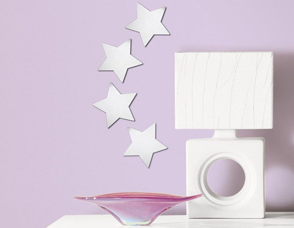 Peel and stick silver stars