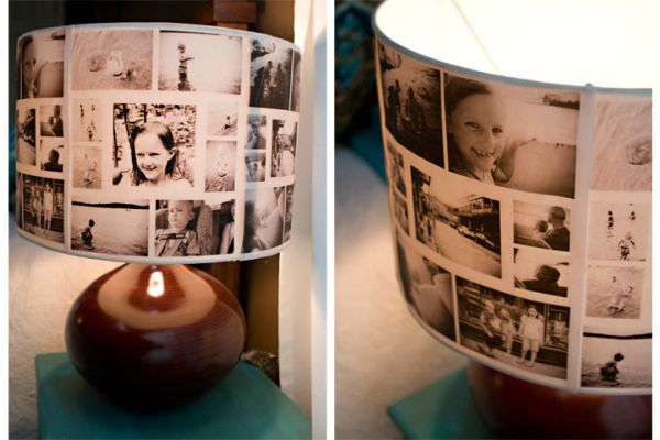 An inspiring DIY photo collage lampshade
