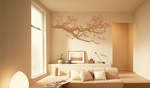 Plum blossom vine tree wall decals