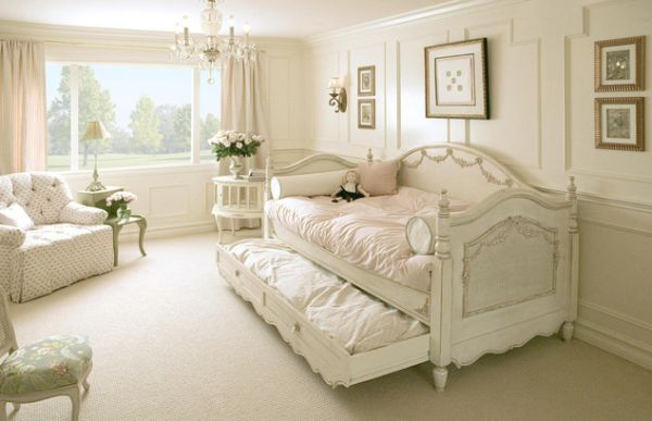 pristine white day trundle bed ideal for a gorgeous girls