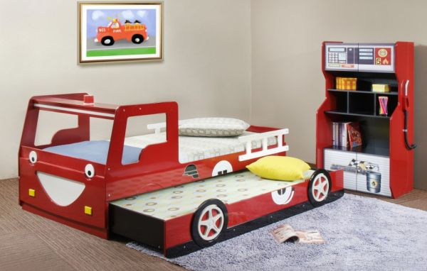 view in gallery race car themed trundle bed perfect for the tiny tots