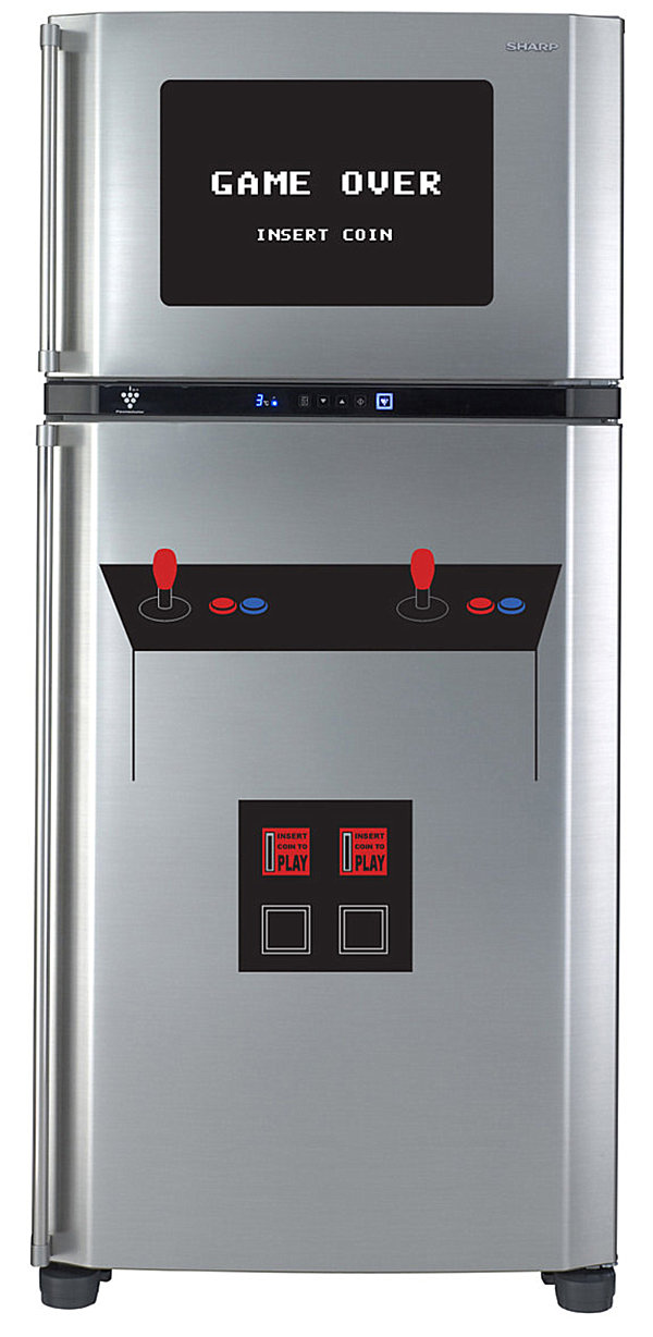 Refrigerator door video game decal