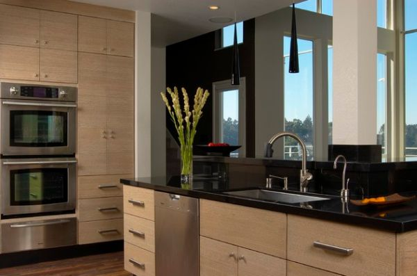 All Wood Kitchen Cabinets Flat Panel