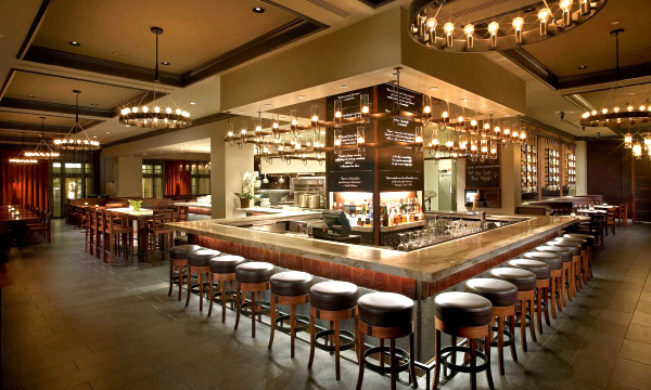 commercial bar lighting. View In Gallery Restaurant Bar With Seating On Three Sides Commercial Lighting T