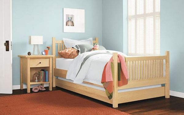 24 cool trundle beds for your kids room for Futon kids room