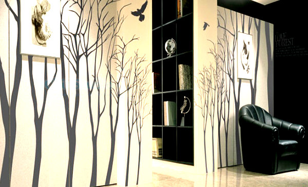 Set of tree wall decals