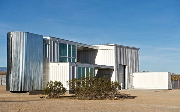 Shipping Container house in the heart of Mojave Desert