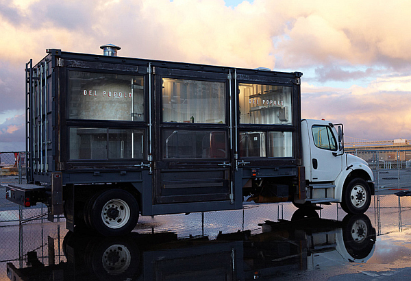 Shipping conatiner mobile pizza truck