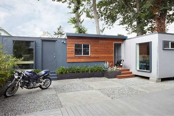 Simple setting and space conscious design make the shipping container office perfect for small businesses
