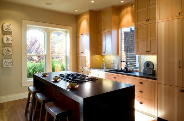 Sleek Asian kitchen with simple and uncomplicated cabinetry