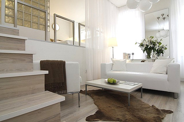 View in gallery Small-scale furniture in a compact space - How To Decorate A Small Living Room