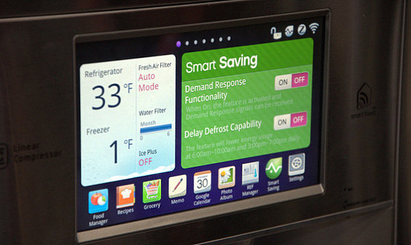Smart features on the LG smart fridge