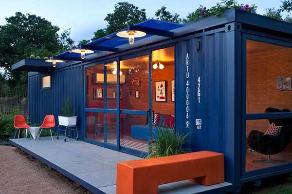 Shipping Container Guest House Design 600 x 398