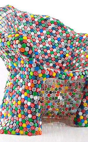 Soda bottle cap chair by BRC Designs