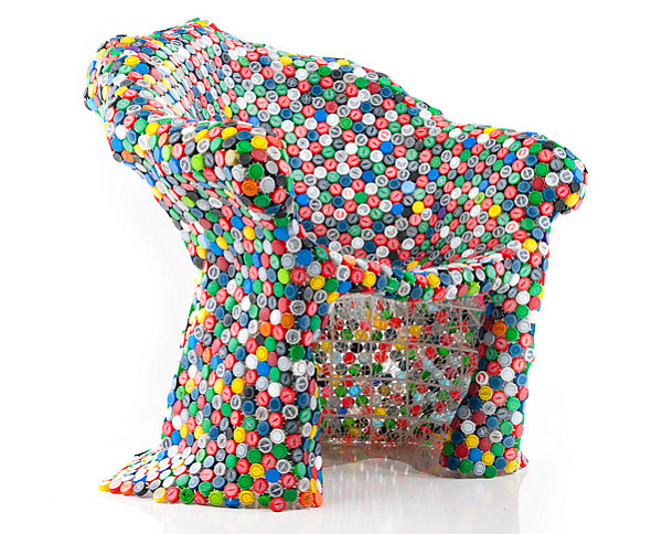 Soda bottle cap chair by BRC Designs Unusual Furniture Pieces: From Materials to Shapes