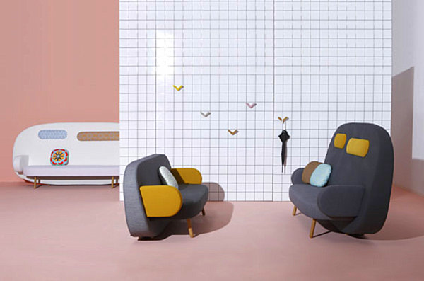 Sofa by Karim Rashid Unusual Furniture Pieces: From Materials to Shapes