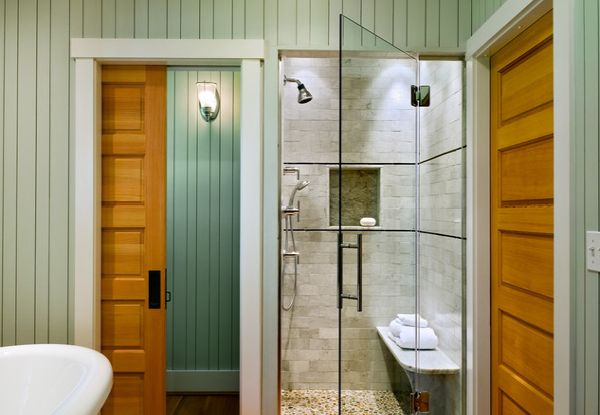Sparkling shower with glass door steals the show in this brilliant bath 25  Glass Shower Doors. 25 Glass Shower Doors for a Truly Modern Bath