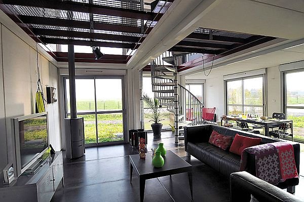 Shipping Container House Interior. View in gallery Striking interiors befitting any modern home Shipping Container Homes Designed With an Urban Touch
