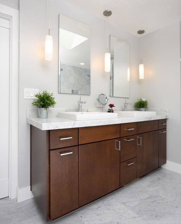22 bathroom vanity lighting ideas to brighten up your mornings for Lighting over bathroom vanity
