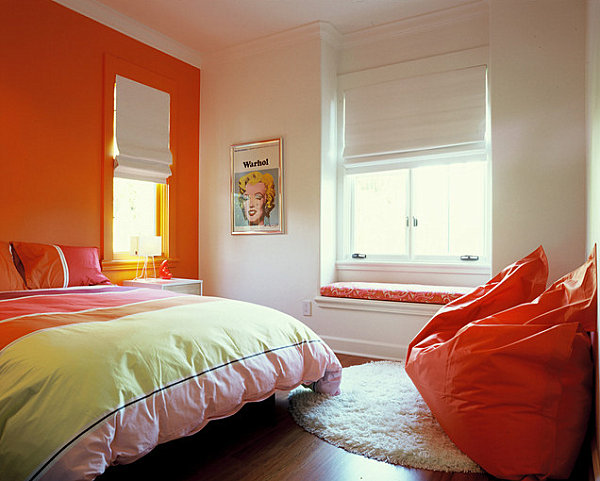 Tangerine Paint Color eye-catching paint colors for the bedroom